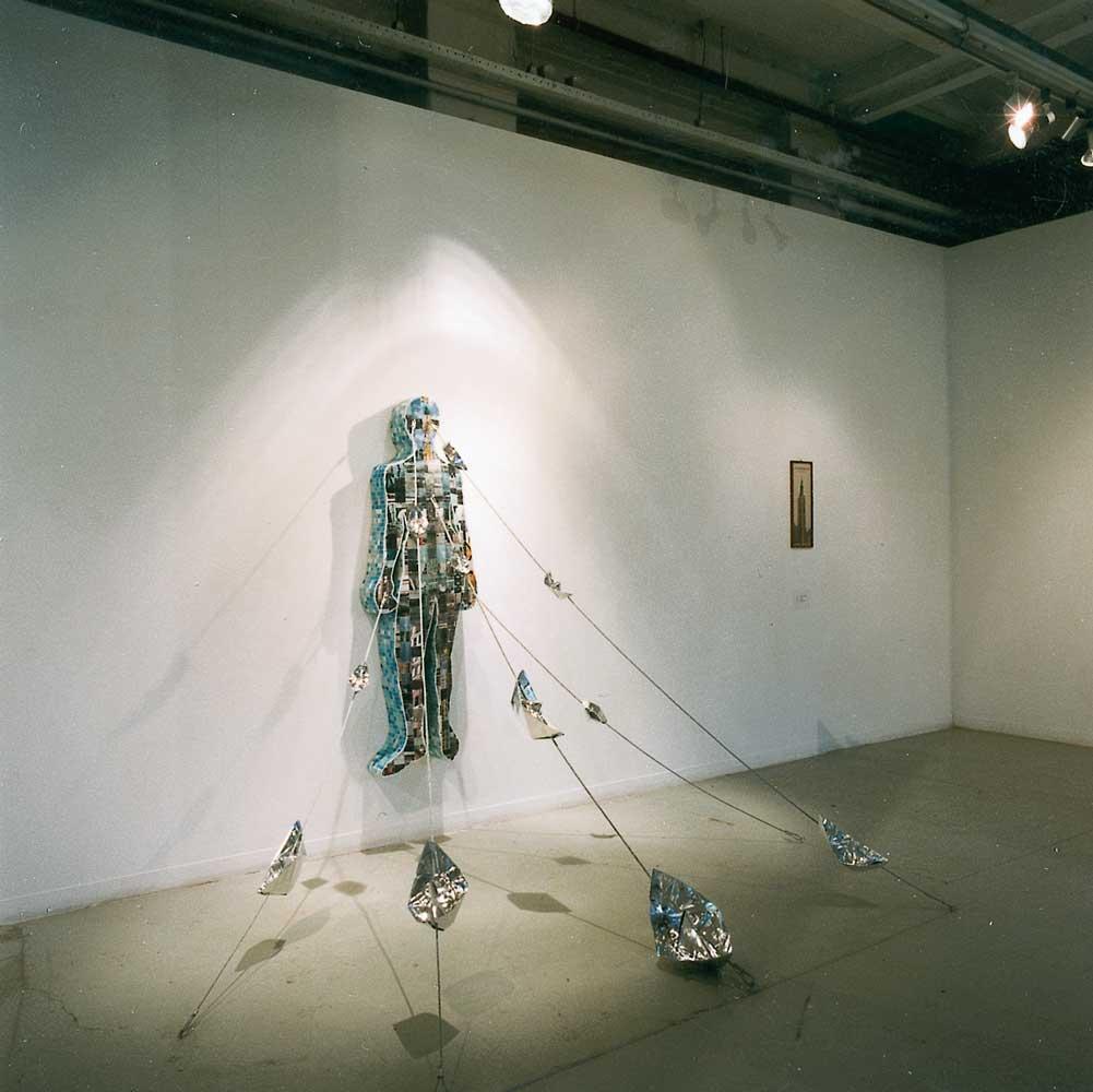 installatie voor '750 meter Den Haag', 1999