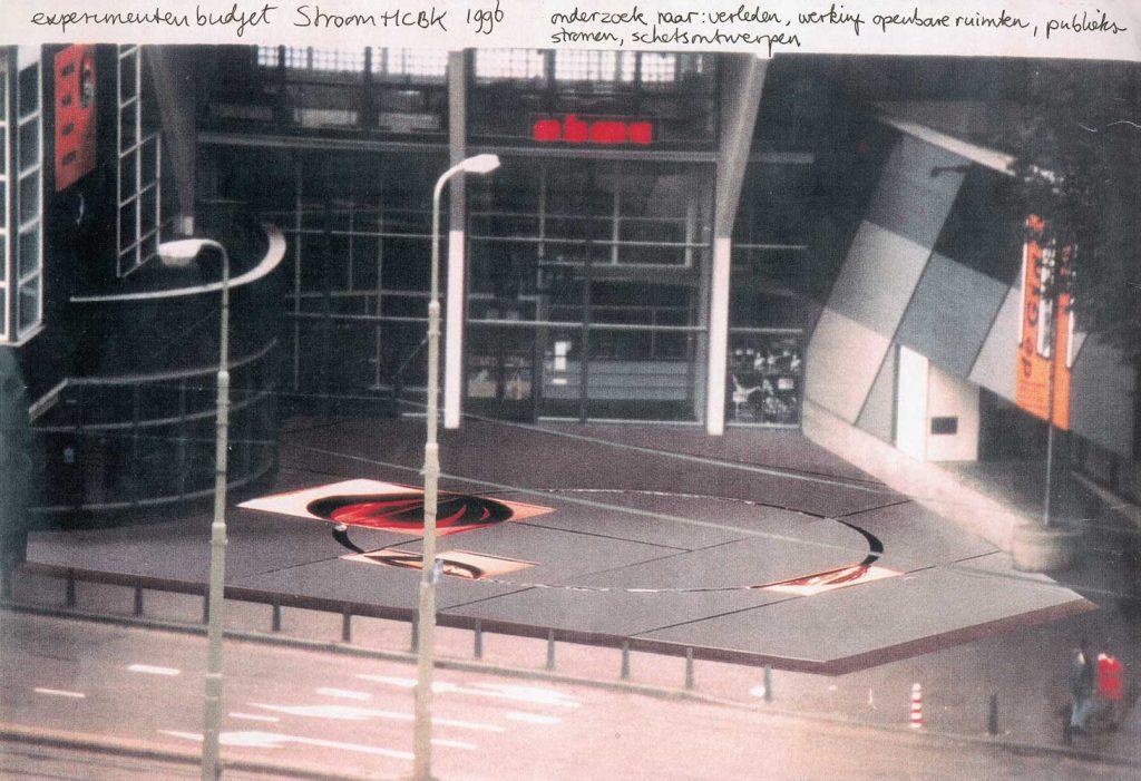 ontwerp plein voor Theater aan het Spui, Den Haag, 1996